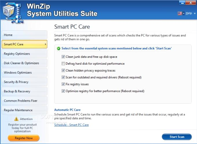 System Utilities Suite从Windows中删除不需要的文件