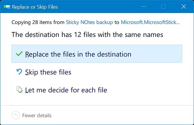 在Windows 10步骤4中恢复便笺