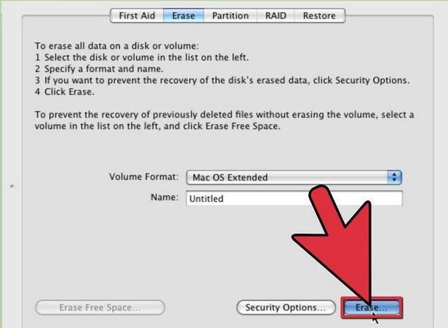 从mac步骤2中删除硬盘数据