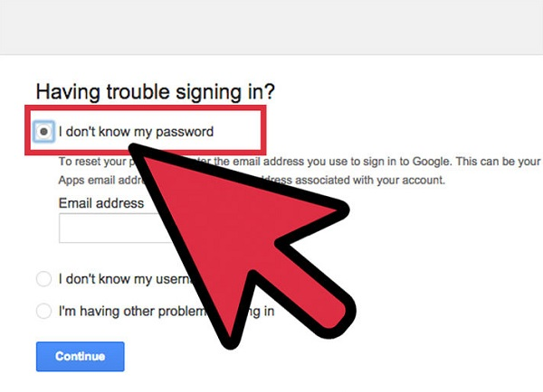 重置电子邮件密码