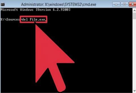 如何通过电子方式删除锁定的文件
