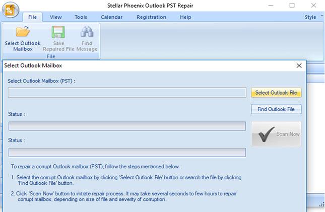 修复加密的PST文件步骤1
