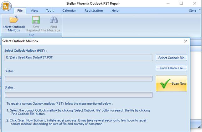 在Outlook步骤4中从PST文件中恢复已删除的电子邮件