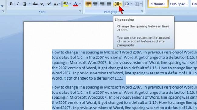 如何更改Microsoft Word中的行间距
