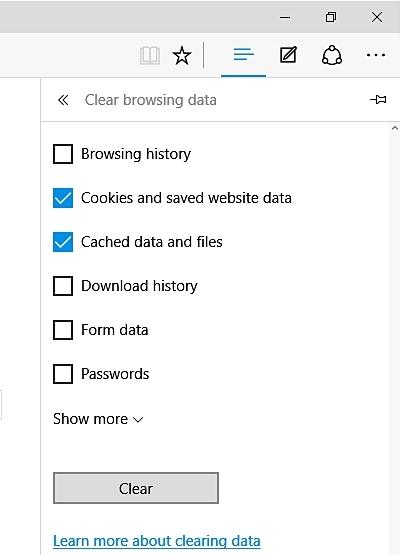 清除Microsoft Edge中的下载历史记录