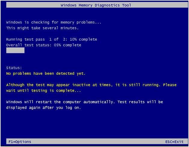 Windows内存诊断工具