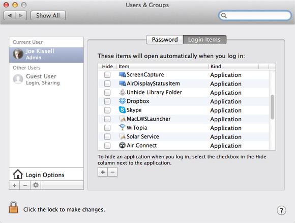 如何使用10种简单方法修复慢速Mac性能 - 关闭启动应用程序