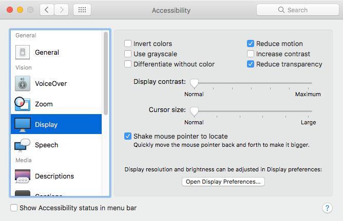 如何通过10种简单方法修复慢速Mac性能 - 降低透明度