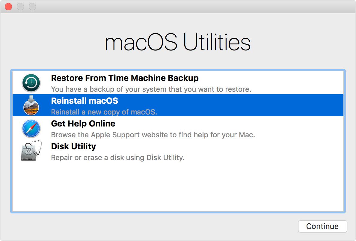 通过10种简单方法修复慢速Mac性能 - 重新安装Mac