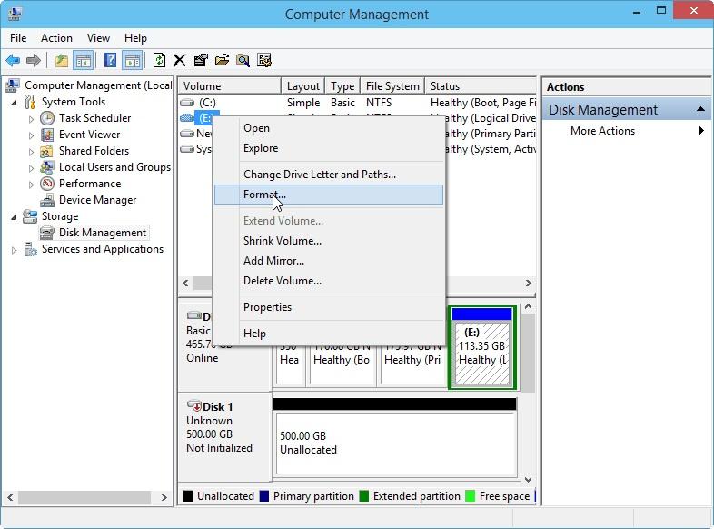 Windows 10步骤2中的格式分区