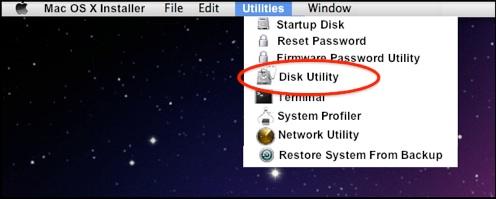 Mac OS X上的格式分区步骤1