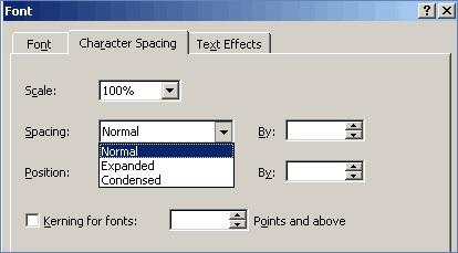 在Microsoft Word中改变行间距