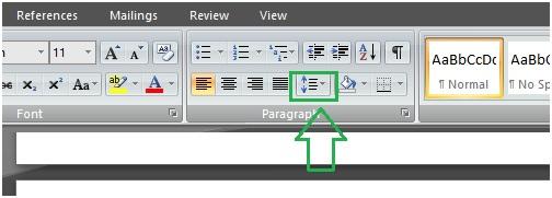 如何在微软词中加倍空格