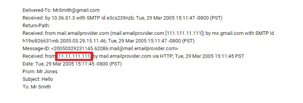 查找邮件发件人位置