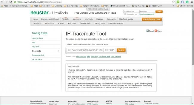 跟踪IP地址