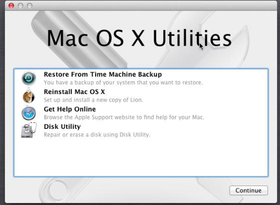 """在恢复模式下,已解决的Mac无法从""""磁盘工具""""打开"""