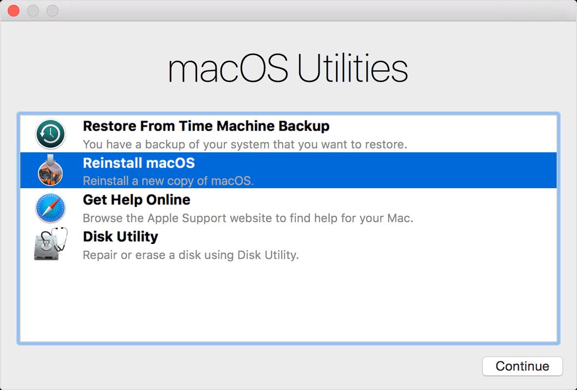 解决了Mac无法启动 - 重新安装Mac OS