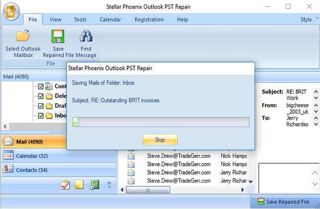 从PST文件恢复已删除的联系人步骤4