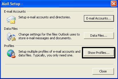 创建新的Outlook pst文件第2步
