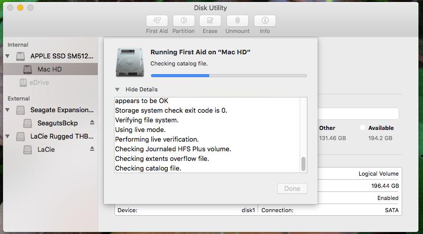 如何使用Mac Disk Utility-1修复硬盘驱动器和磁盘权限