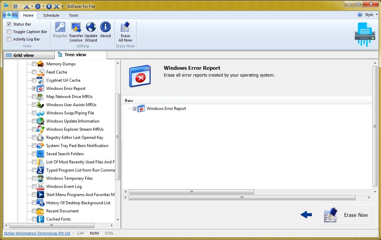 擦除Windows错误报告