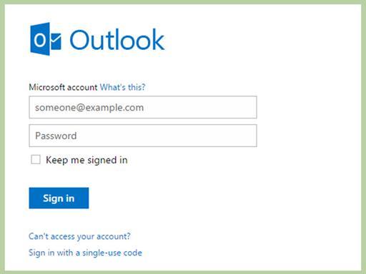 重置丢失的Outlook密码
