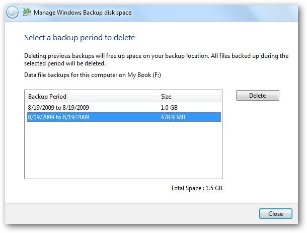 管理Windows备份大小