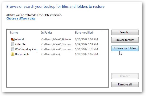Windows 7恢复