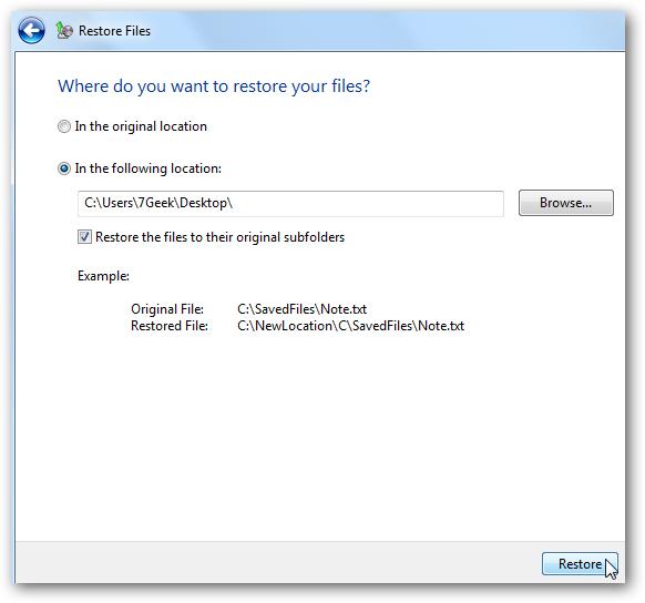 从备份还原Windows文件