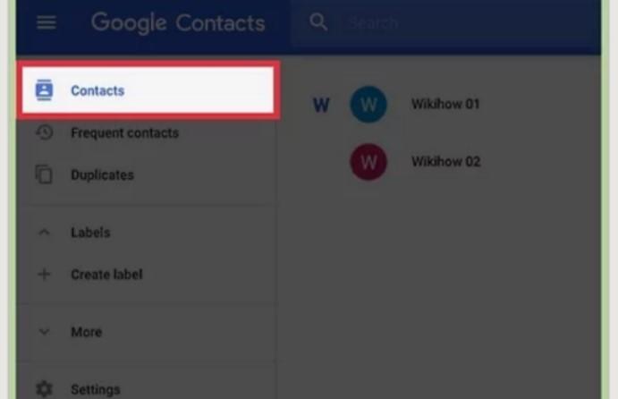 在Google通讯录上查找联系人