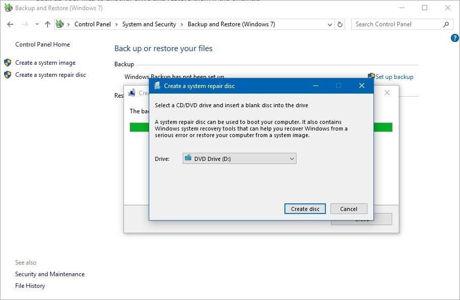 Windows 10系统修复盘