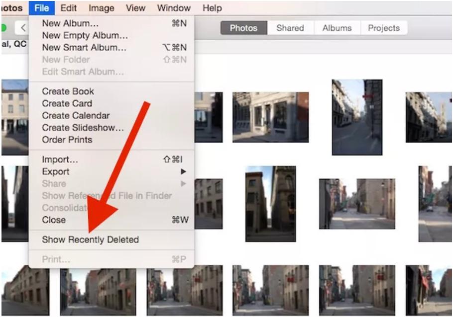 从最近删除的Mac照片恢复