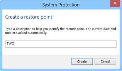 Windows 10中的还原点