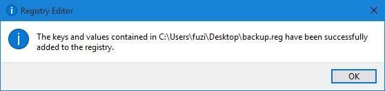 在Windows 10中恢复注册表