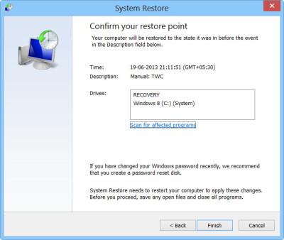 Windows 10中的系统还原