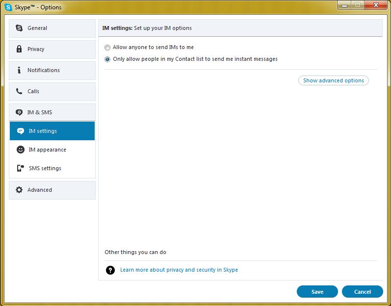 清除Skype聊天记录