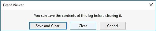 删除Windows事件日志
