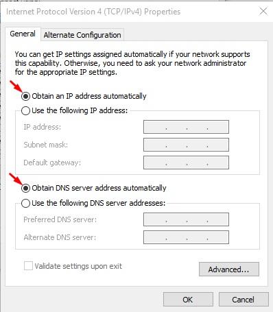 启用和禁用DHCP