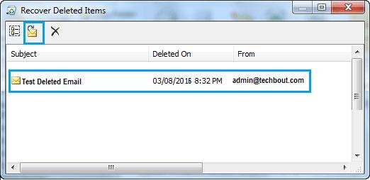 在outlook步骤3中恢复已删除的电子邮件