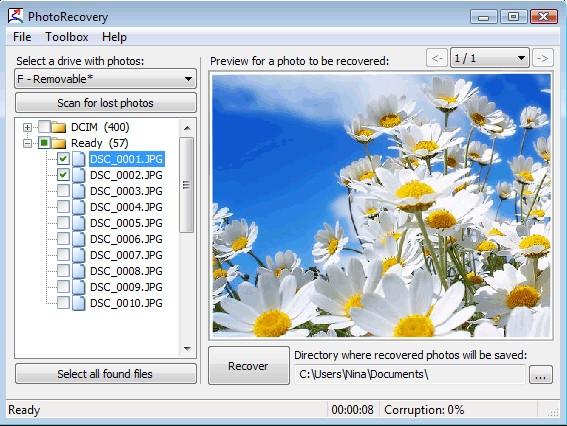 PixRecovery照片修复步骤