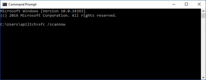 扫描Windows 10是否有错误