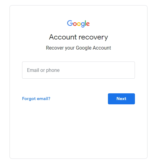 重置您的Gmail帐户密码