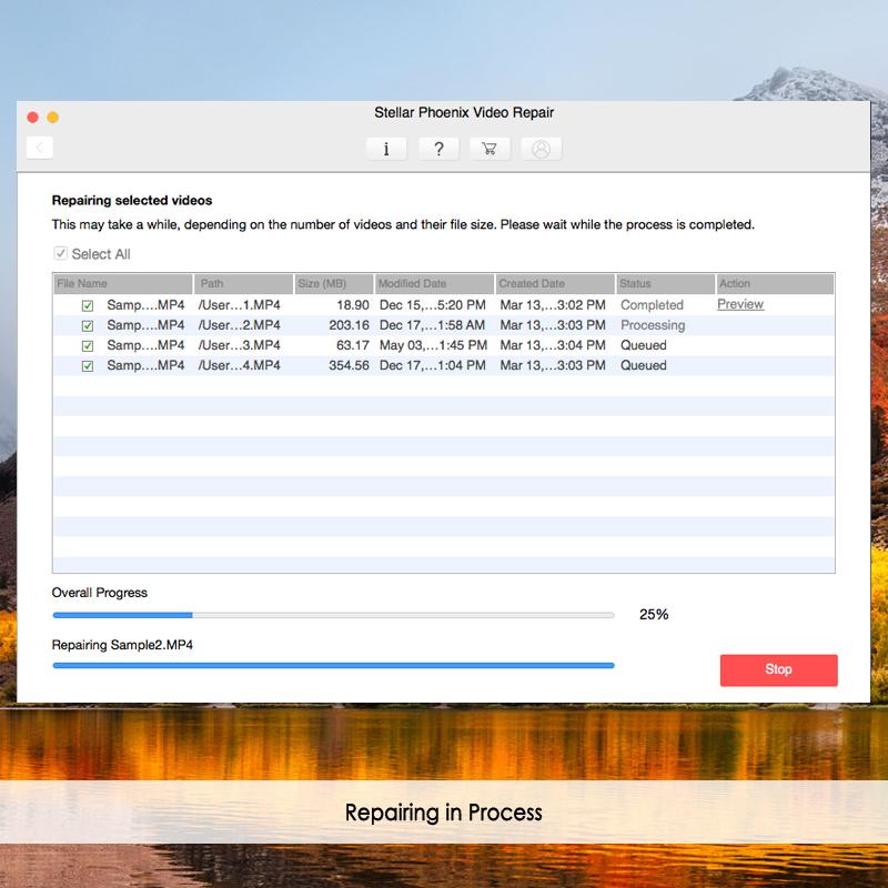 修复mac上损坏的视频文件