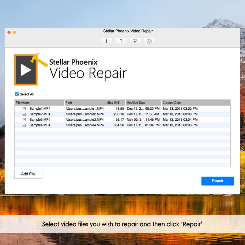 选择mac上损坏的视频文件