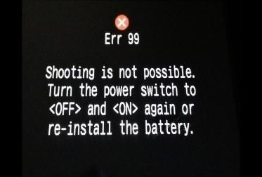 佳能错误99