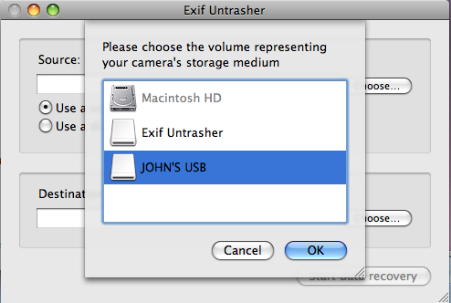 Exif Untrasher mac免费恢复