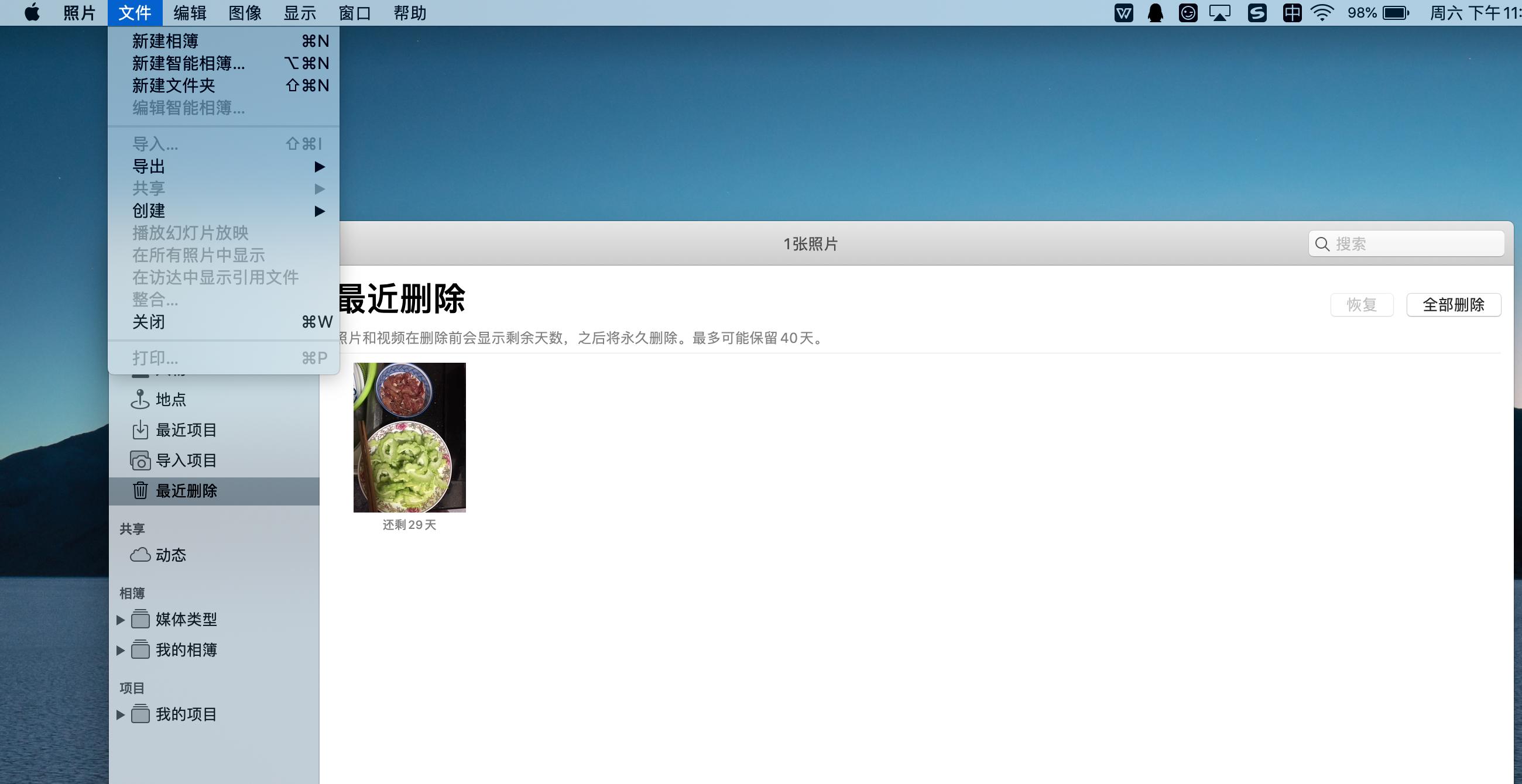 在Mac上恢复最近删除的照片