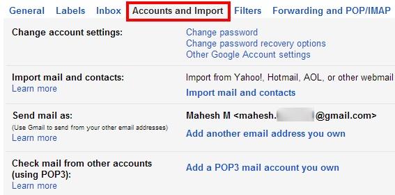 如何删除Gmail帐户并导入