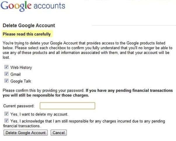 如何删除Gmail帐户确认