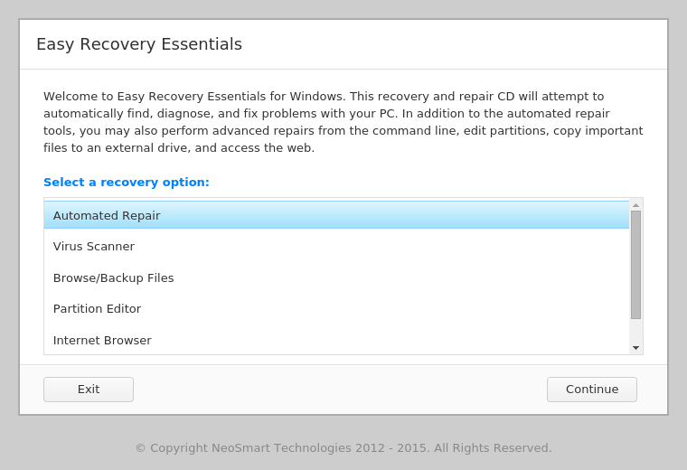 Windows轻松恢复必需品
